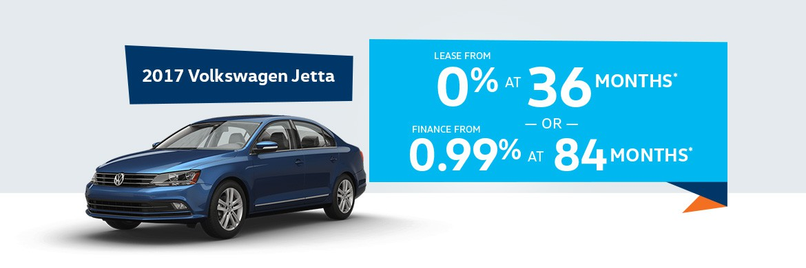 2017 Volkswagen Jetta, lease from 0% at 36 months
