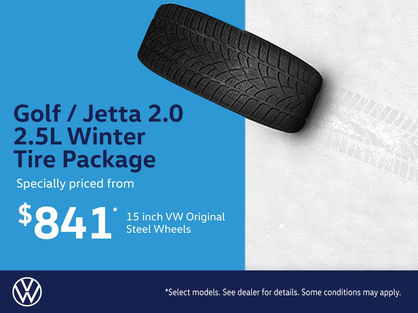 Golf-Jetta 2.0-2.5L Winter Tire Package