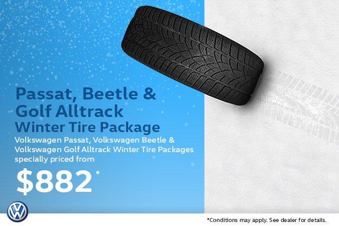 Passat, Beetle & Golf Alltrack Winter Tire Package