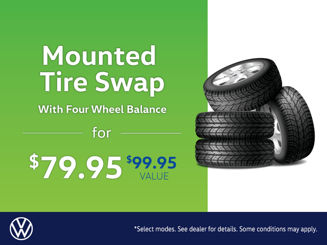 Mounted tire swap with balance