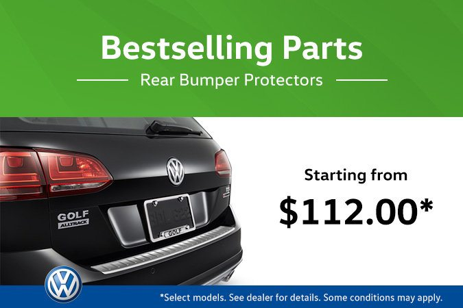 The Hottest VW Parts at MidTown! Rear Bumper Protectors