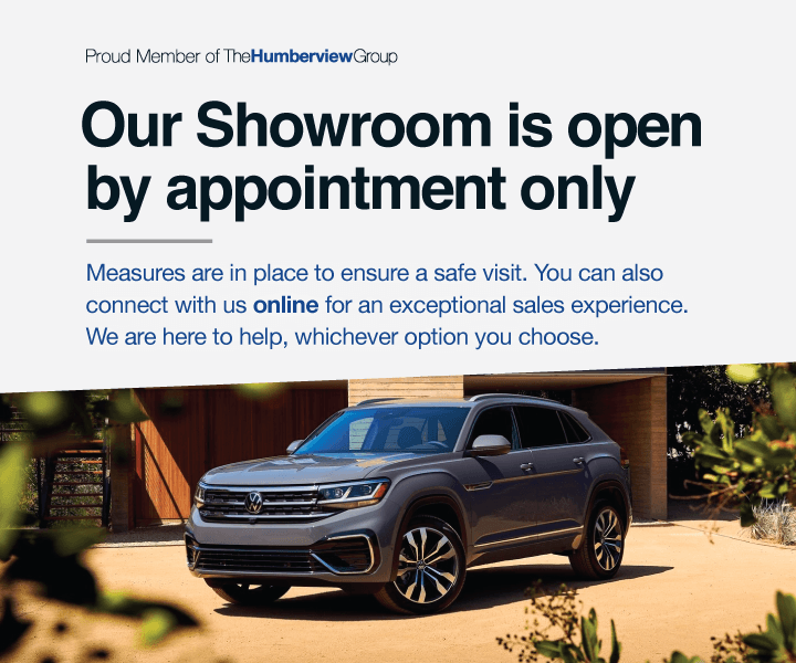 Showroom Open by Appointment Only - Volkswagen MidTown Toronto