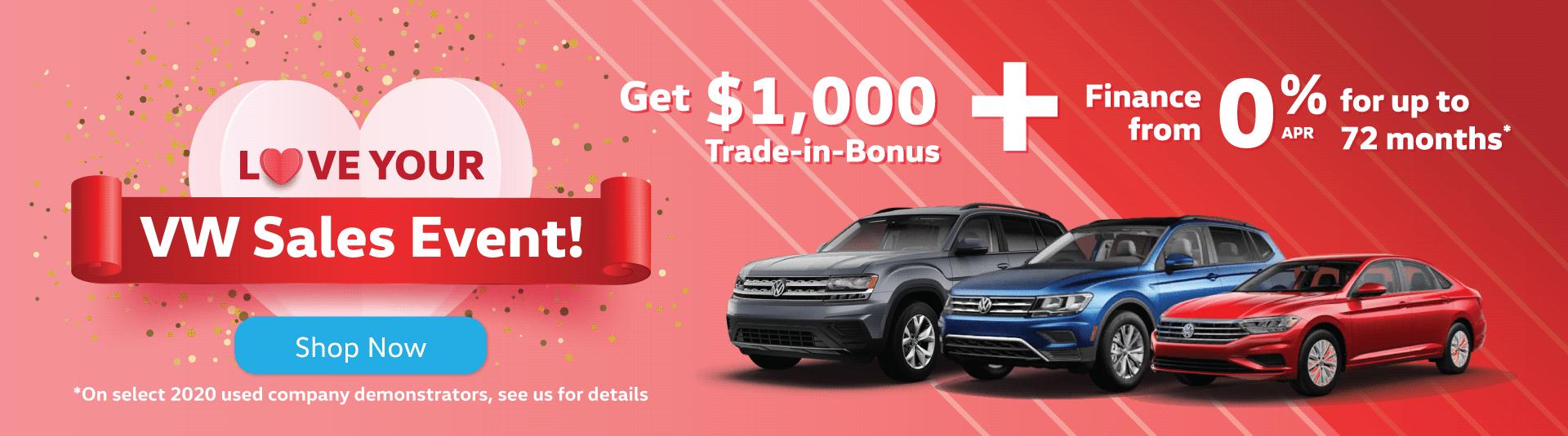 Love Your VW Sales Event - Volkswagen MidTown Toronto