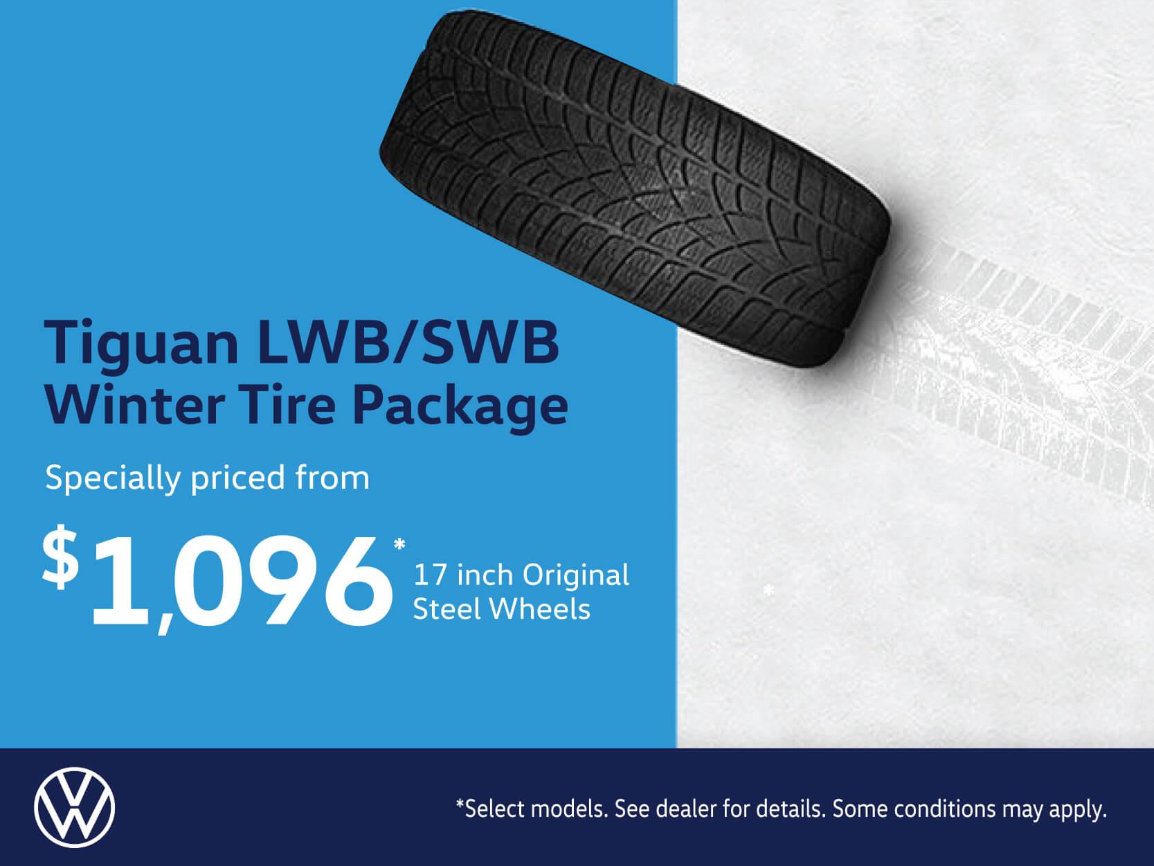 Tiguan LWB-SWB Steel Winter Tire Package
